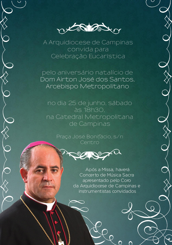 Dom Airton José dos Santos - convite