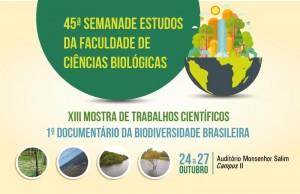 45ª Semana de Estudos da Faculdade de Ciências Biológicas @ Consulte a programação