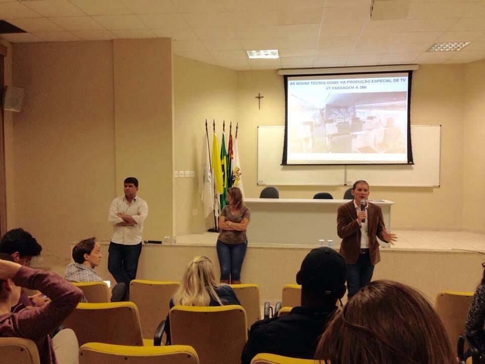 Palestra aborda o uso da tecnologia na produção jornalística para TV 1