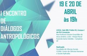 I Encontro de Diálogos Antropológicos @ Sala 900 - H1 | São Paulo | Brasil