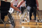 26955880 - wheelchair users in a basketball match