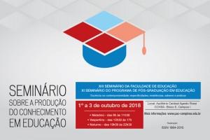 Seminário sobre produção de conhecimento na Educação