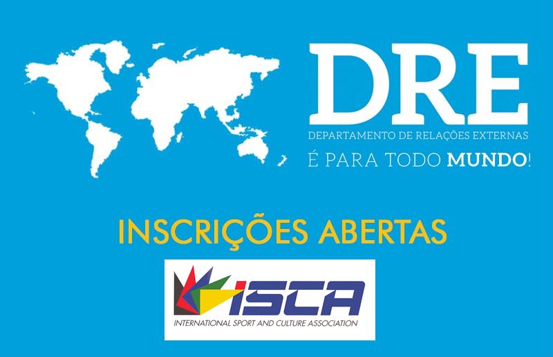 inscrições abertas ISCA