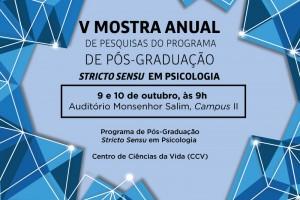 V Mostra Anual de Pesquisas do Programa de Pós-Graduação Stricto Sensu em Psicologia