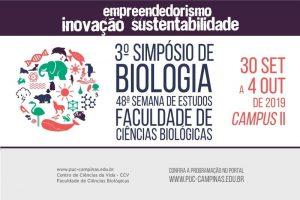 3º Simpósio de Biologia e 48ª Semana de Estudos da Faculdade de Ciências Biológicas @ Auditório Monsenhor Salim, laboratórios e salas